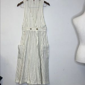 Free People Dress XS Deep V Double Button